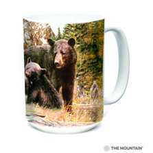 Black Bear Family 15oz Ceramic Mug | The Mountain | 57598009011 | Black Bear Mug