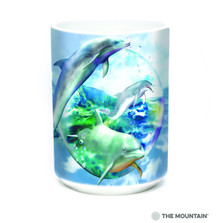 Dolphin Bubble 15oz Ceramic Mug | The Mountain | 57589609011 | Dolphin Mug