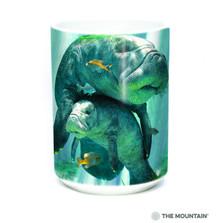 Manatees Collage 15oz Ceramic Mug | The Mountain | 57590309011 | Manatee Mug