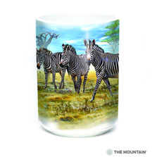 Zebra Gathering 15oz Ceramic Mug | The Mountain | 57591309011 | Zebra Mug