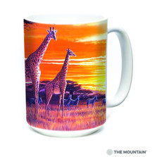 Sundown Giraffes 15oz Ceramic Mug | The Mountain | 57590609011 | Giraffe Mug