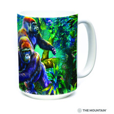 Gorilla Jungle 15oz Ceramic Mug | The Mountain | 57591209011 | Gorilla Mug