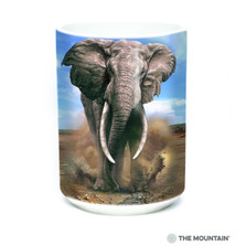 African Elephant 15oz Ceramic Mug | The Mountain | 57595909011 | Elephant Mug