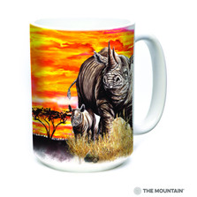 Rhinos 15oz Ceramic Mug | The Mountain | 57597009011 | Rhinoceros Mug