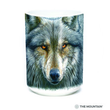 Warrior Wolf 15oz Ceramic Mug | The Mountain | 57497909011 | Wolf Mug