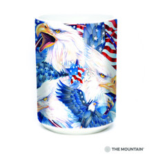Allegiance Eagles American Flag 15oz Ceramic Mug | The Mountain | 57484109011 | Eagle Mug