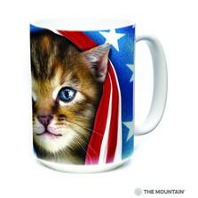 Patriotic Kitten 15oz Ceramic Mug | The Mountain | 57394109011 | Cat Mug