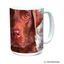 Chocolate Lab Face 15oz Ceramic Mug | The Mountain | 57355009011 | Chocolate Lab Mug