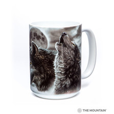 Eclipse Wolves 15oz Ceramic Mug | The Mountain | 57339809011 | Wolf Mug