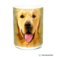 Big Face Golden Retriever 15oz Ceramic Mug | The Mountain | 57402309011 | Golden Retriever Mug