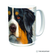 Bernese Mountain Dog Face 15oz Ceramic Mug | The Mountain | 57361409011 | Bernese Mountain Dog Mug