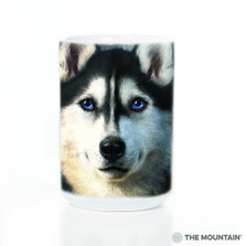 Siberian Husky Face 15oz Ceramic Mug | The Mountain | 57333709011 | Husky Dog Mug