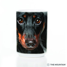 Dachshund Dog Face 15oz Ceramic Mug | The Mountain | 57333409011 | Weiner Dog Mug