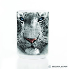 White Tiger Face 15oz Ceramic Mug | The Mountain | 57325209011 | White Tiger Mug