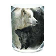Yin Yang Wolves 15oz Ceramic Mug | The Mountain | 57392209011 | Wolf Mug