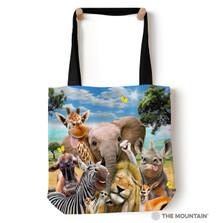 "African Wildlife Selfie 18"" Tote Bag | The Mountain | 9749872"