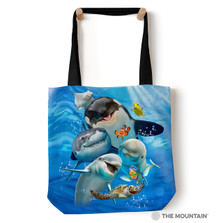 "Ocean Animals Selfie 18"" Tote Bag | The Mountain | Dolphin Tote Bag | Shark Tote bag | Sea Life Tote | 9749862"