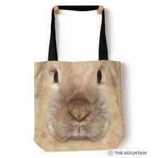 "Bunny Rabbit Face 18"" Tote Bag | The Mountain | 9734462 | Bunny Tote Bag"