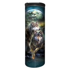 Wolf Lookout Stainless Steel 17oz Travel Mug | The Mountain | 5949781