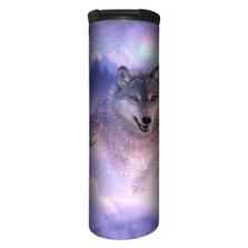 Northern Lights Wolf Stainless Steel 17oz Travel Mug | The Mountain | 5948811 | Wolf Travel Mug