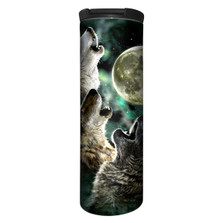 Three Wolf Moon Stainless Steel 17oz Travel Mug   The Mountain   5920531   Wolf Travel Mug