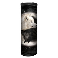 Yin Yang Wolves Stainless Steel 17oz Travel Mug | The Mountain | 5939221 | Wolf Travel Mug