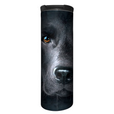 Black Lab Face Stainless Steel 17oz Travel Mug | The Mountain | 5932551 | Black Lab Travel Mug