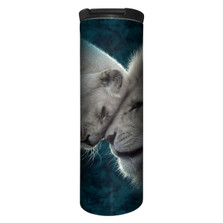 White Lions Love Stainless Steel 17oz Travel Mug | The Mountain | 5959371 | Lion Travel Mug