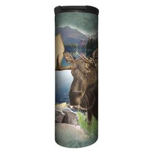 Moose Monarch of the Forest Stainless Steel 17oz Travel Mug | The Mountain | 5961681 | Moose Travel Mug