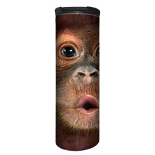 Big Face Baby Orangutan Stainless Steel 17oz Travel Mug | The Mountain | 5935871 | Orangutan Travel Mug