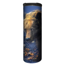 Foraging Bear Stainless Steel 17oz Travel Mug | The Mountain | 5961661 | Bear Travel Mug