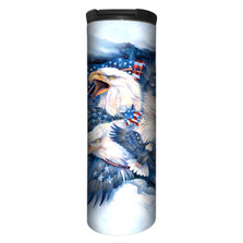 Allegiance Eagle Stainless Steel 17oz Travel Mug | 5948411 | The Mountain | Bald Eagle Travel Mug