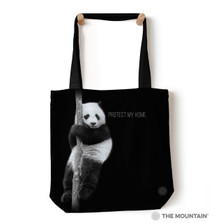 "Protect My Home Panda 18"" Tote Bag 