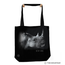 "Rhino Be My Voice 18"" Tote Bag 