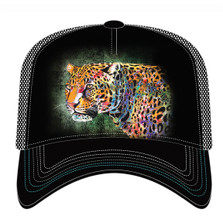 Painted Cheetah Trucker Hat | The Mountain | 76632101009 | Cheetah Hat