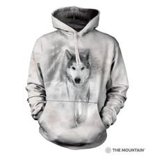 Snowstorm Loki Wolf Adult Unisex Hoodie | The Mountain | 7256000564 | Wolf Sweatshirt