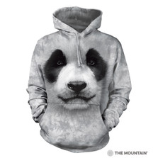 Big Face Panda Unisex Hoodie | The Mountain | 723558 | Panda Sweatshirt