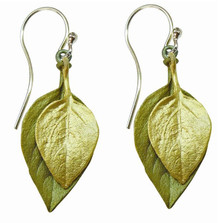 Sweet Basil Two Toned Wire Earrings | Michael Michaud Jewelry | SS3095BZ