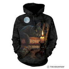 Black Cat Witching Hour Unisex Hoodie | The Mountain | 723825 | Cat Sweatshirt