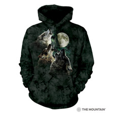 Three Wolf Moon Unisex Hoodie | The Mountain | 722053 | Wolf Sweatshirt