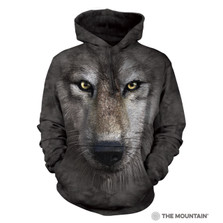 Wolf Face Unisex Hoodie | The Mountain | 723249 | Wolf Sweatshirt