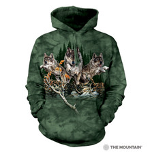 Find 12 Wolves Unisex Hoodie | The Mountain | 723448 | Wolf Sweatshirt