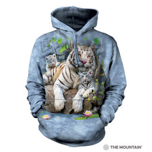 White Tigers of Bengal Unisex Hoodie | The Mountain | 724135 | White Tiger Sweatshirt