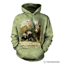 Black Bear Family Unisex Hoodie | The Mountain | 725980 | Black Bear Sweatshirt