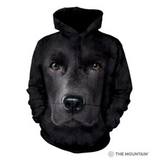 Black Lab Dog Face Unisex Hoodie | The Mountain | 723255 | Black Lab Sweatshirt