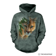 Frozen Mountain Lion Unisex Hoodie | The Mountain | 726389 | Cougar Sweatshirt