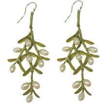 Sawgrass Leaf Pearl Earrings | Michael Michaud Jewelry | SS3120bzwp