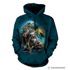Wolf Lookout Unisex Hoodie | The Mountain | 724978 | Wolf Sweatshirt