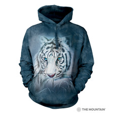 Thoughtful White Tiger Unisex Hoodie | The Mountain | 725964 | White Tiger Sweatshirt