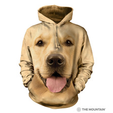 Big Face Golden Retriever Unisex Hoodie | The Mountain | 724023 | Golden Retriever Sweatshirt